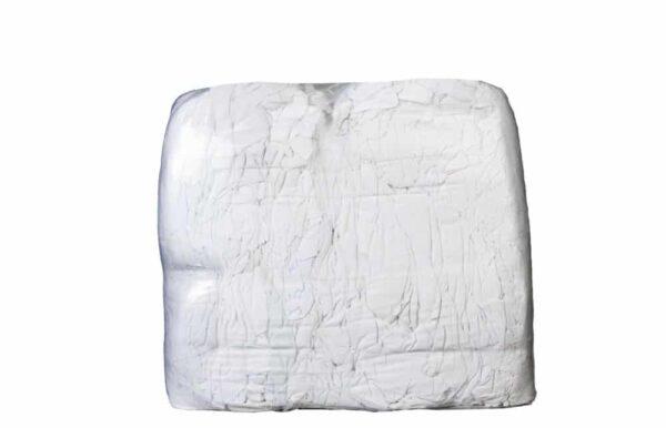 weiße Bettwäsche geschnitten