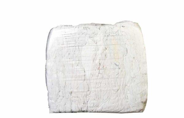 weißes Baumwolltrikot geschnitten